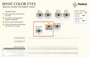 Calculadora Cor dos olhos do bebê 01