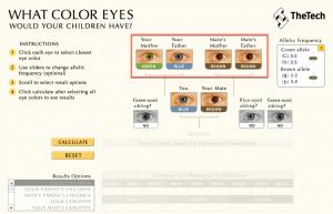 Calculadora Cor dos olhos do bebê 03